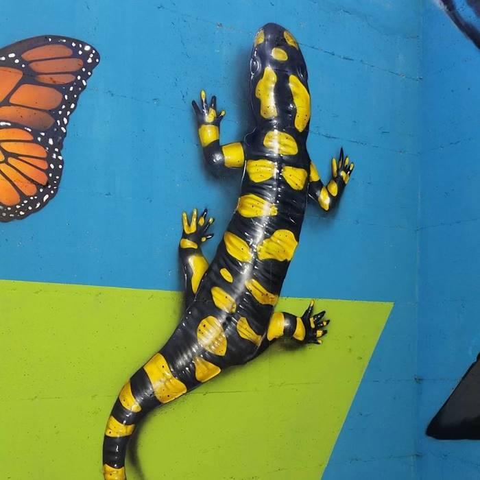 Three-dimensional 3D Street Art by Caiffa Cosimo