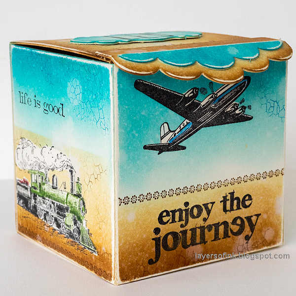Layers of ink - Vintage Vehicles Box Tutorial by Anna-Karin Evaldsson. DIY gift box.