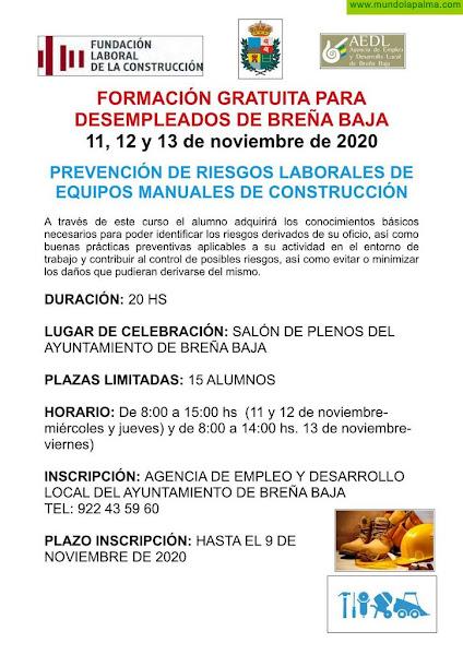 BREÑA BAJA: Curso de PRL de Equipos Manuales de Construcción