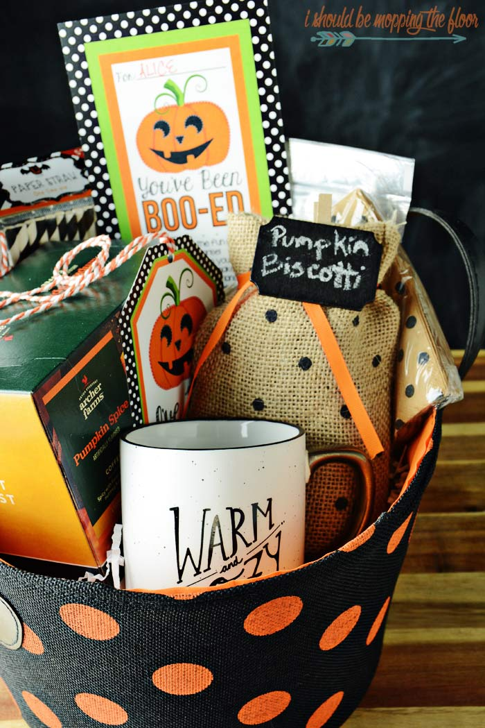 Coffee Themed Boo Basket Ideas
