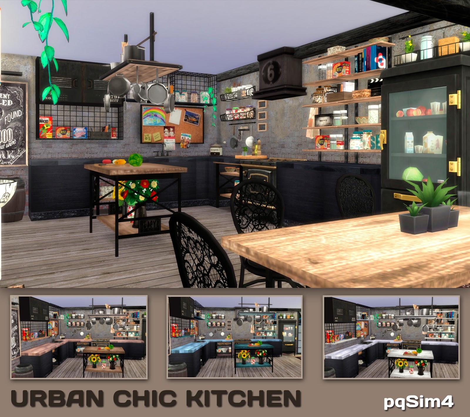 Sims 4 cc 39 s the best urban chic kitchen set by pqsim4 - Muebles urban chic ...