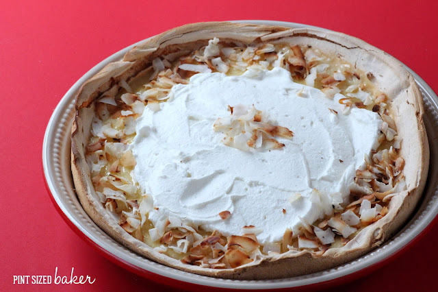 This Coconut Cream Meringue Pie is a great dessert to eat after Christmas dinner! Share it with your family and they'll definitely love it!