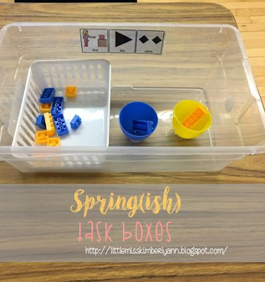 Spring Themed Task Boxes for Special Education
