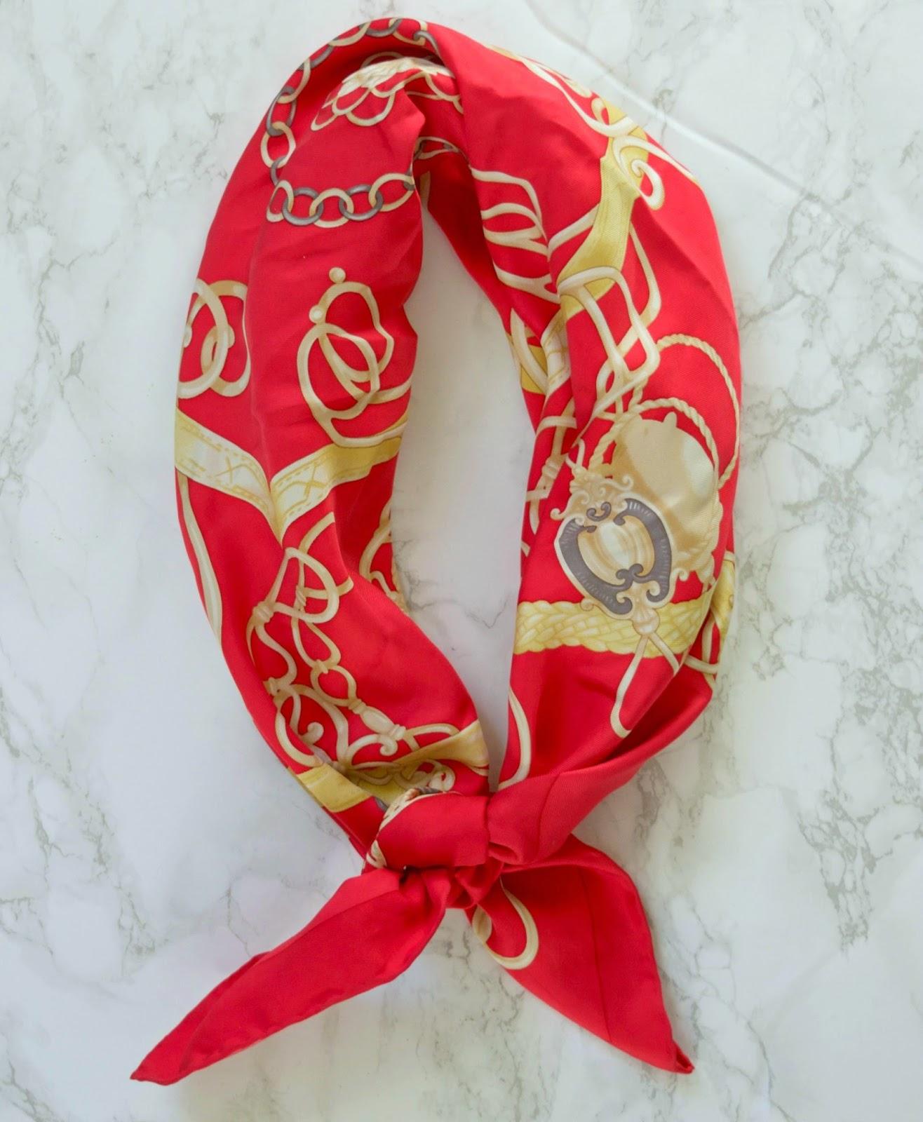 how to tie a silk scarf - silk scarf tying ideas