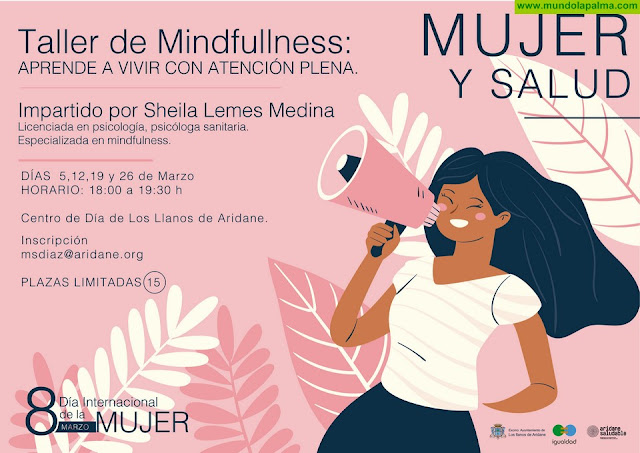 Los Llanos de Aridane conmemora el 8 de marzo con talleres formativos dedicados a los cuidados de la salud de las mujeres