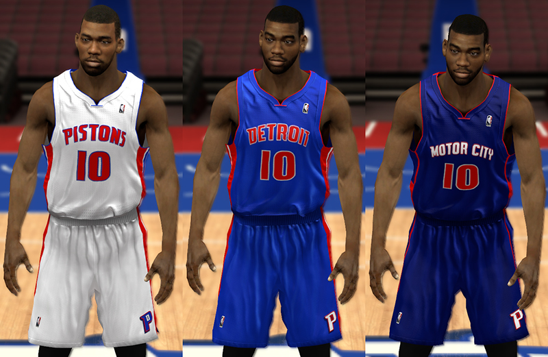 5cbbae4c Detroit Pistons Jerseys (Home and Away + 2014 Navy Alt - 'Motor City')