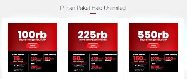 Paket Halo Unlimited dari Telkomsel,
