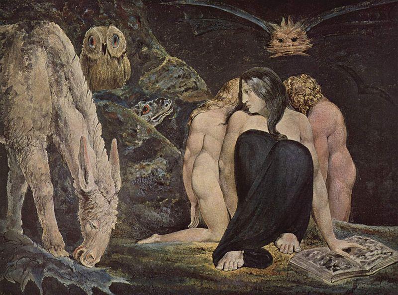 A noite da alegria de Enitharmon - Hécate (William Blake, 1795)