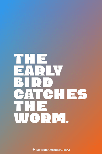 """Wise Old Sayings And Proverbs: """"The early bird catches the worm."""""""