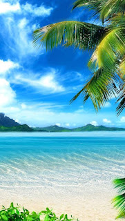 Background pantai