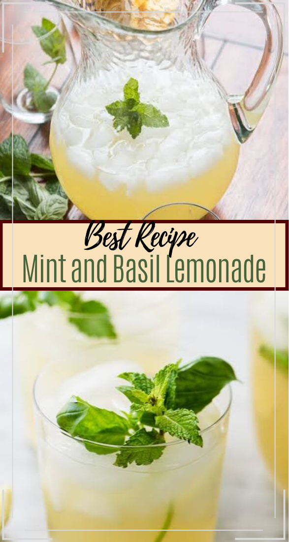 Mint and Basil Lemonade  #healthydrink #easyrecipe #cocktail #smoothie