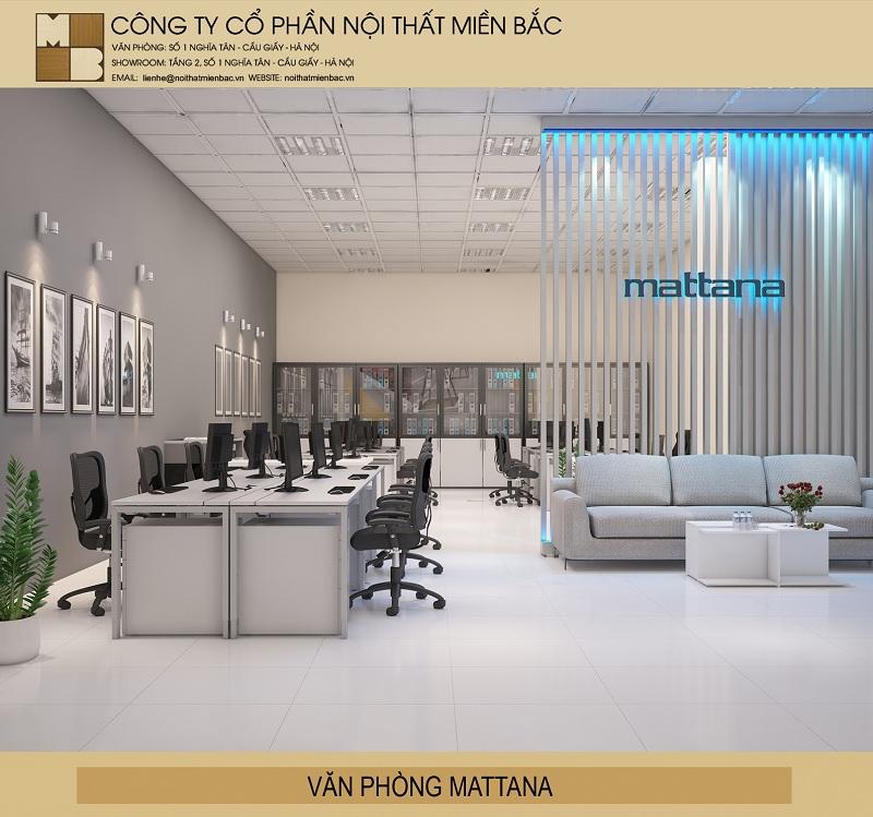 Thiết kế trọn gói nội thất văn phòng không gian tinh tế
