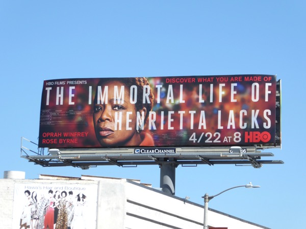 Immortal Life of Henrietta Lacks HBO film billboard
