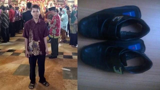 Heboh Di Medos Pria ini Datang ke Resepsi Pernikahan Putri Jokowi dengan Sepatu Jebol, Reaksi Jokowi
