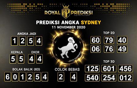 Royal Prediksi Sidney Rabu 11 November 2020