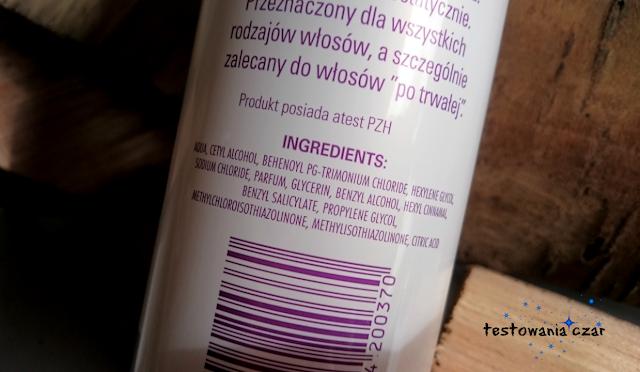 odżywka do włosów, testowania czar