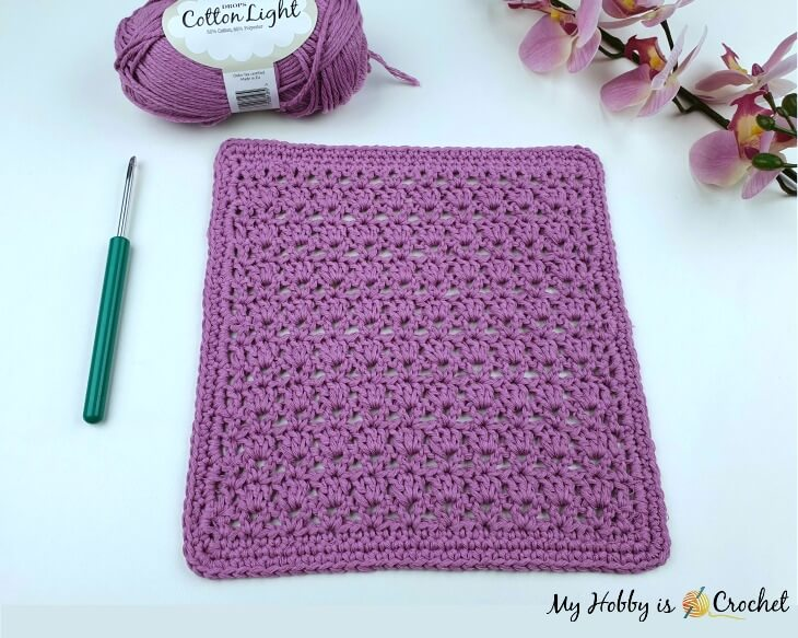 Lavender Fields Crochet Dishcloth