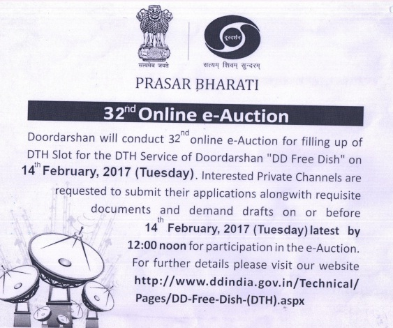 Doordarshan requesting applications from Private TV channels to add channel on DD FreeDish Platform