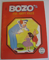 Image: Larry Harmon's TV Bozo's Five Happy Rules | Paperback: 16 pages | by Mary Carey and Larry Harmon (Author). Publisher: Saalfield (January 1, 1961)