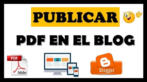 como subir un archivo pdf a blogger