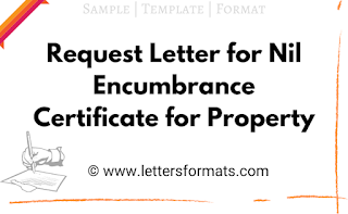 Request Letter for Nil Encumbrance Certificate for Property