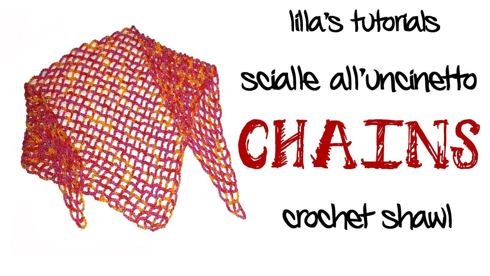 Lo Spazio Di Lilla Chains Lo Scialle Alluncinetto A Catenelle