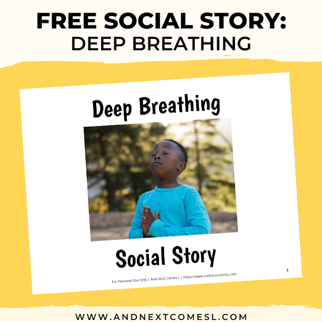 Free deep breathing printable social story