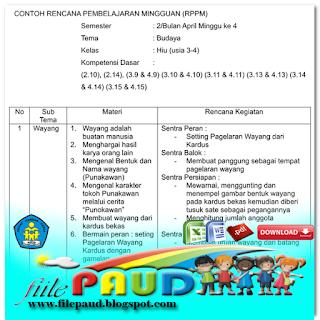 Contoh RKH PAUD, Contoh RPPH PAUD Menggunakan Kurikulum 2013 - File ...