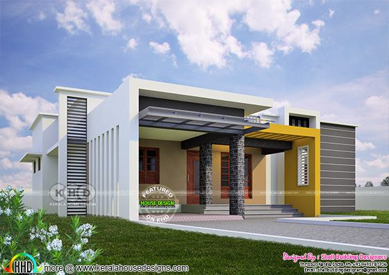 Contemporary model one floor home 1700 sq-ft
