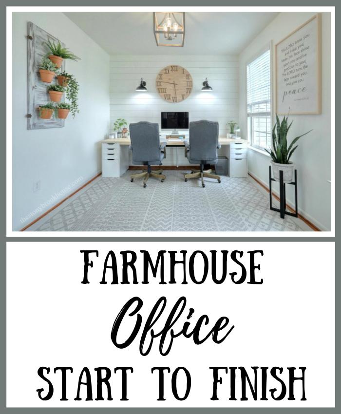 Farmhouse Office Start To Finish