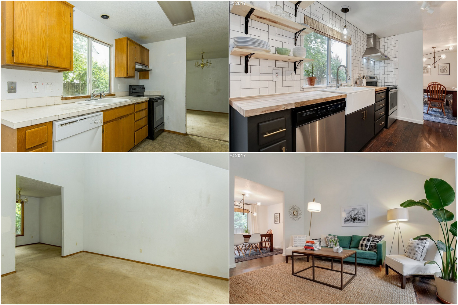 Remodeled Home Before After