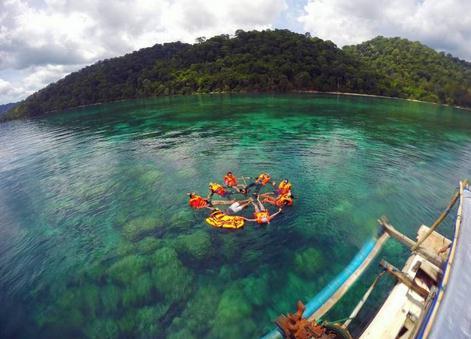 Tempat wisata teluk biru di banyuwangi