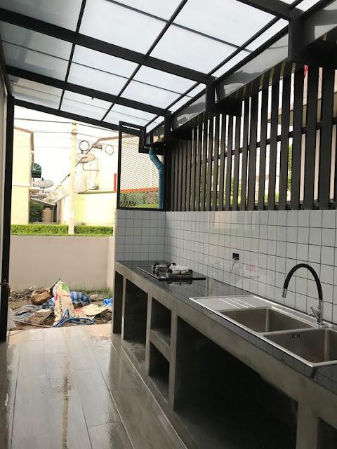 Pembuatan Dapur Beton Minimalis & Elegan
