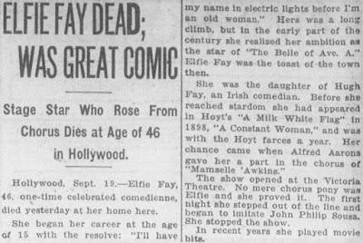Elfie Fay Dead