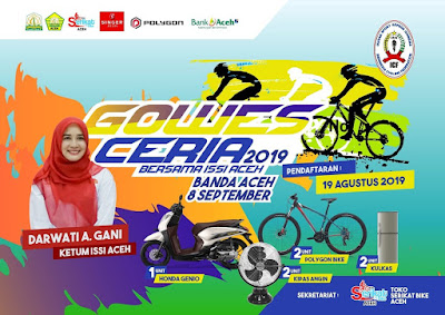 Gowes Ceria Bersama ISSI Aceh,  8 September 2019