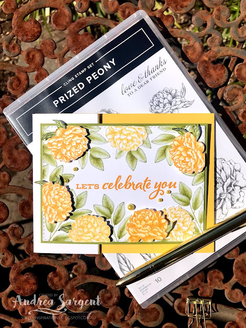 Daffodil Delight Prized Peony, Forever Fern Stampin Up cards, Andrea Sargent, Independent Stampin' Up! Demonstrator, South Australia