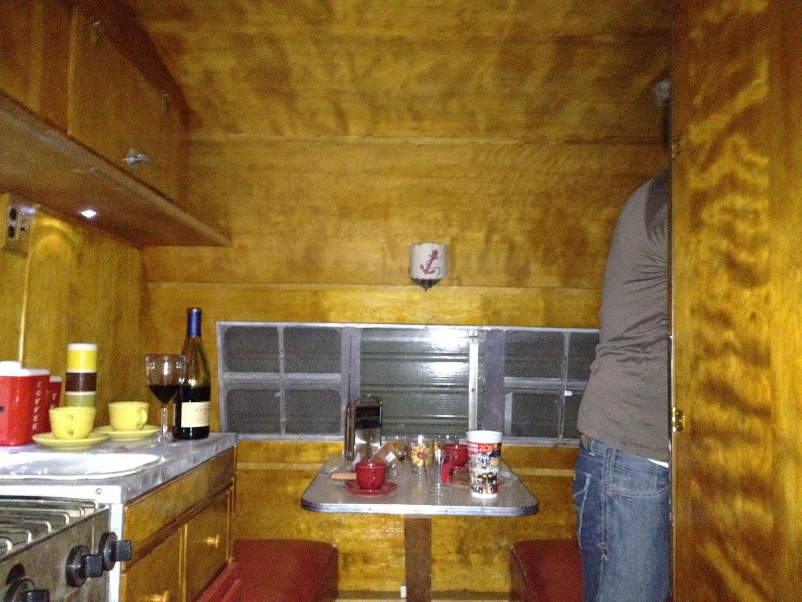 1950 Crown Canned Ham Nightime Interior