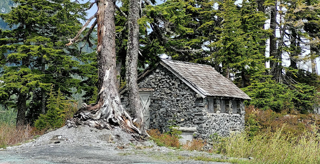 A cute stone cabin at Mt. Baker