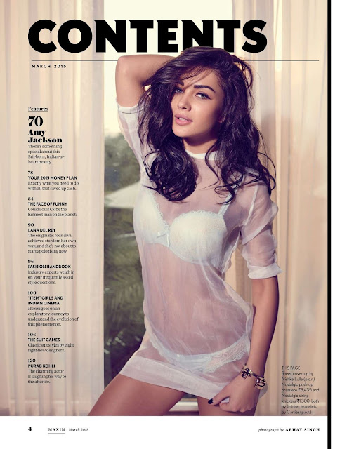 Amy Jackson looks fabulous photoshoot pictures for Maxim India