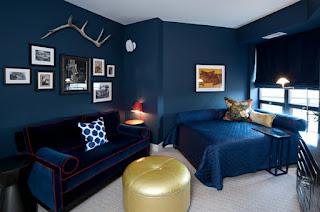Habitación color azul