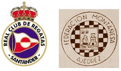Emblema de las dos Entidades Organizadoras de la Semifinal Norte del Campeonato de España Individual de Ajedrez (Santander 1961)