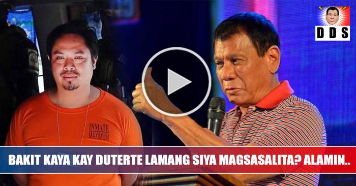 WATCH: Jaybee Sebastian magsasalita lang kay Pangulong Duterte tungkol sa illegal na droga sa New Bilibid
