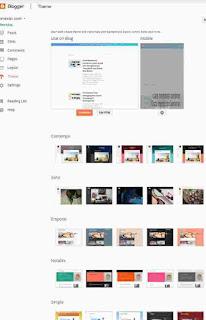 Cara mengganti template dengan kumpulan template blogger