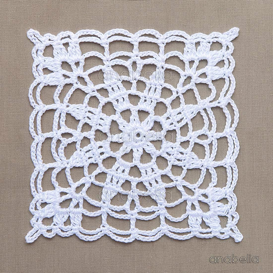 Crochet lace motifs in pink and white, free patterns ...