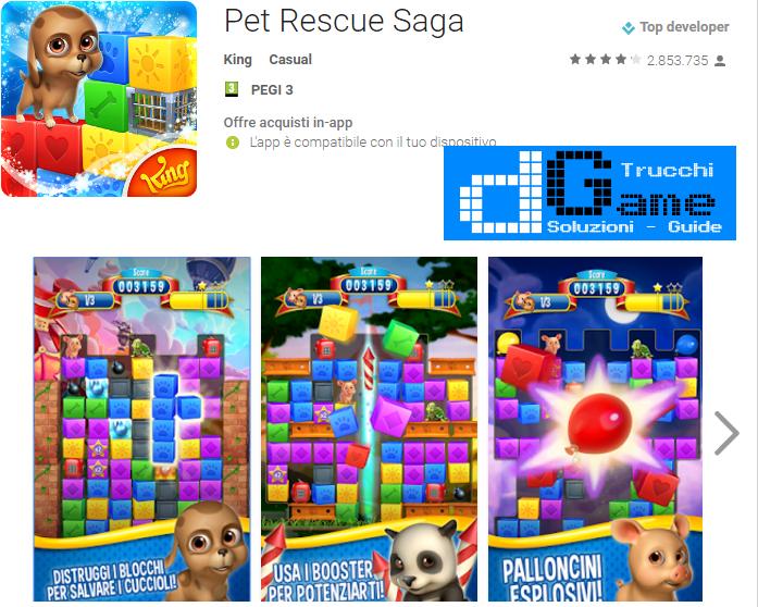 Soluzioni Pet Rescue Saga Pet Island livello  1  2  3  4  5  6  7  8  9 10 | Trucchi e  Walkthrough level