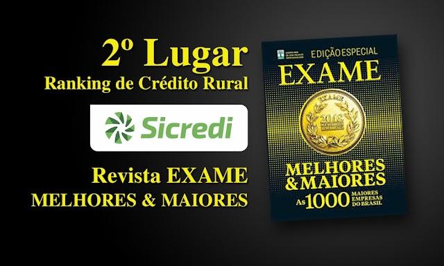 Sicredi conquista 2º lugar no ranking de Crédito Rural do anuário Melhores & Maiores 2019