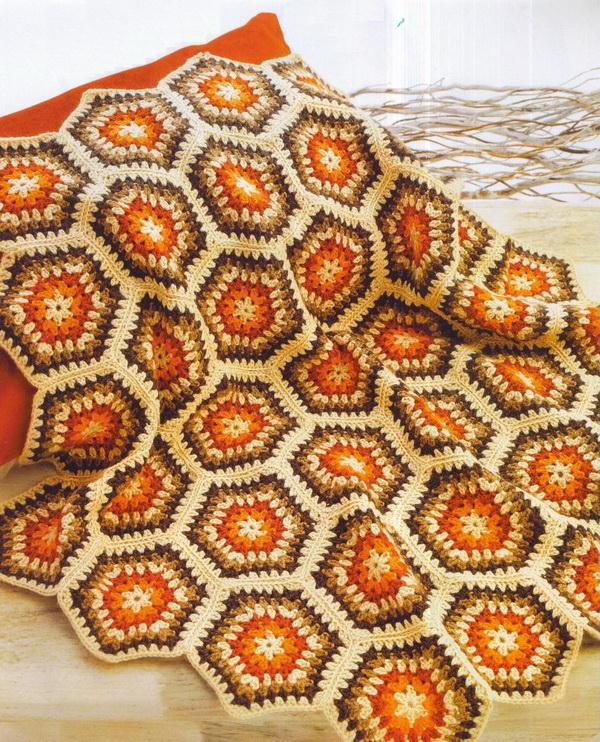 Granny Hexagon Crochet Patterns, crochet blanket