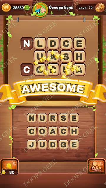Word Bright Level 70 Answers, Cheats, Solutions, Walkthrough for android, iphone, ipad and ipod