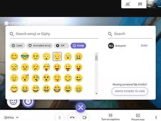Cara Menambahkan Emoji, GIF dan Agenda di Google Meet-2
