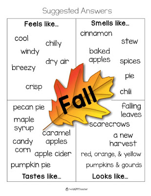 Fall graphic organizer for writing